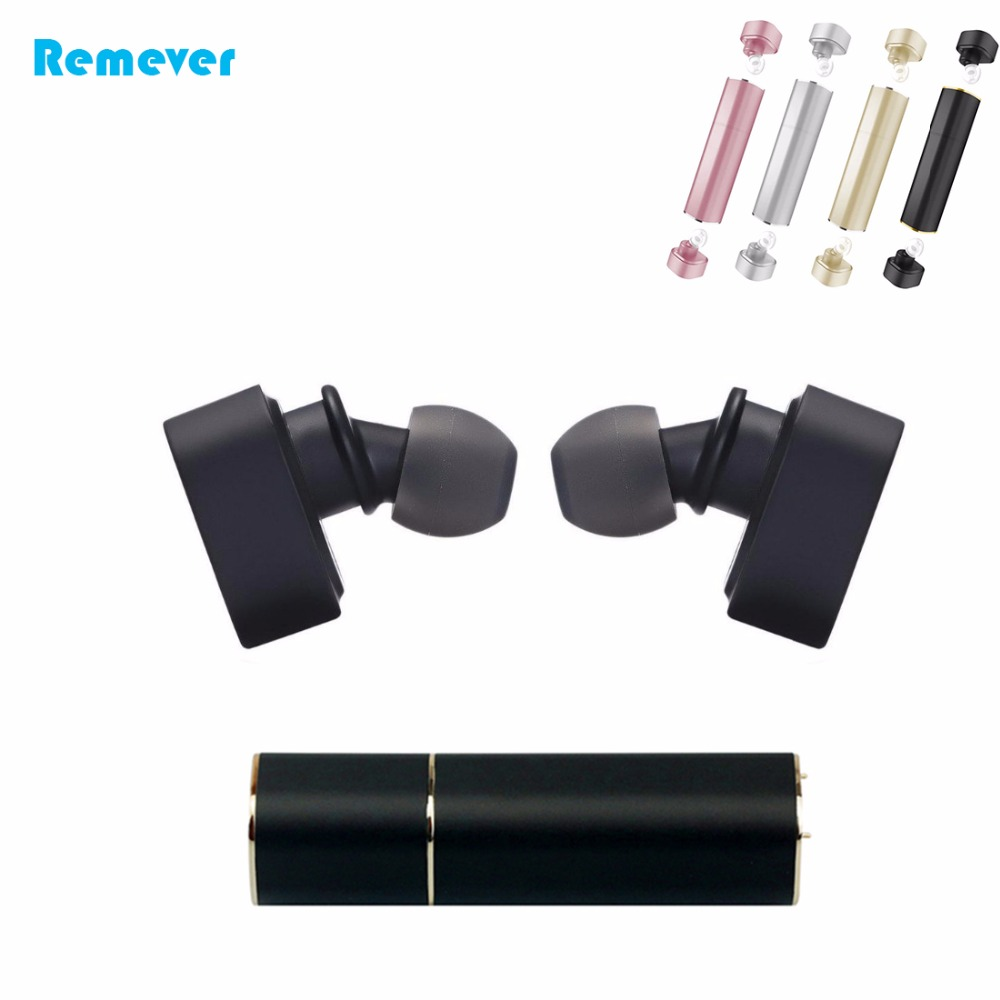Mini Bluetooth Wireless earphones With portable Power Bank Lipstick HiFi earbuds for phones IPhone Huawei Xiaomi Samsung