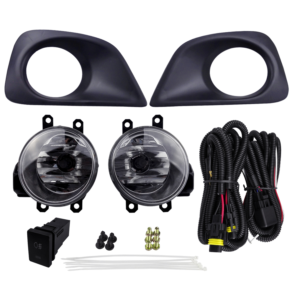 For TOYOTA YARIS SEDAN BELTA 2013 TOYOTA VIOS 2013 Fog Light Assembly Car Lights ABS Plastic 4300K Yellow 12V 55W Halogen Lamp fog lights lamp for toyota yaris senda 2006 belta vios 2007 clear lens pair set wiring kit fog light set