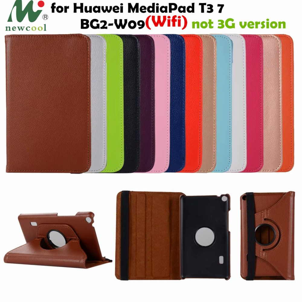 T3 7.0 360 rotating PU Leather Case Flip Cover for Huawei MediaPad T3 7 Wifi BG2-W09 7.0 Tablet case cover protective shell faux leather 7 0for huawei mediapad t3 7 0 case for huawei mediapad t3 7 3g bg2 u01 tablet cover case