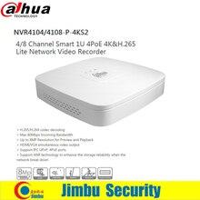 Dahua NVR 4 К видеомагнитофон NVR4104-P-4KS2 NVR4108-P-4KS2 4Ch 8Ch H.265 4 POE Порты сети заменить NVR4104-P 4108-P