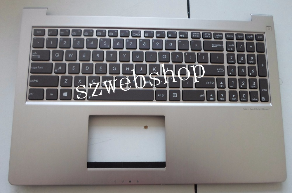 New for ASUS zenbook UX51 UX51VZ UX51VZ-DB115H backlit palmrest US version laptop keyboard non-touchpad with C shell laptop keyboard for asus ux51 ux51vz 9z n8bbu h01 with us version