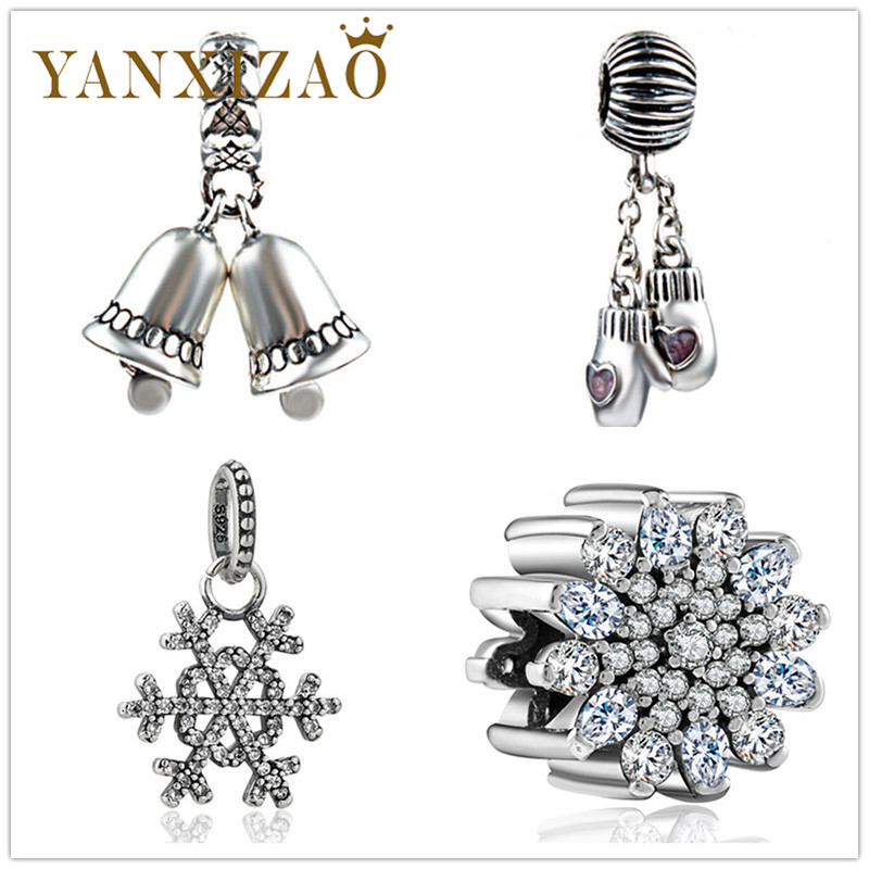 Contemplative Yanxizao 2018 Fashion 925 Silver Cz Charm Beads Fit Pandora Bell Snow Bracelet Zircon Pendant Necklace Women Jewelry Originals And To Have A Long Life.