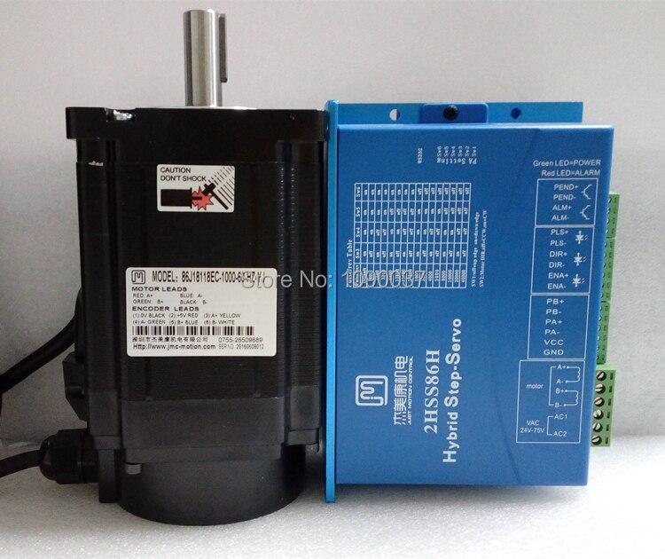 86J18118EC-1000 + 2HSS86H système pas à pas en boucle fermée 8.5N.m 6A Nema 34 Hybird moteur pas à pas 2 phases en boucle fermée