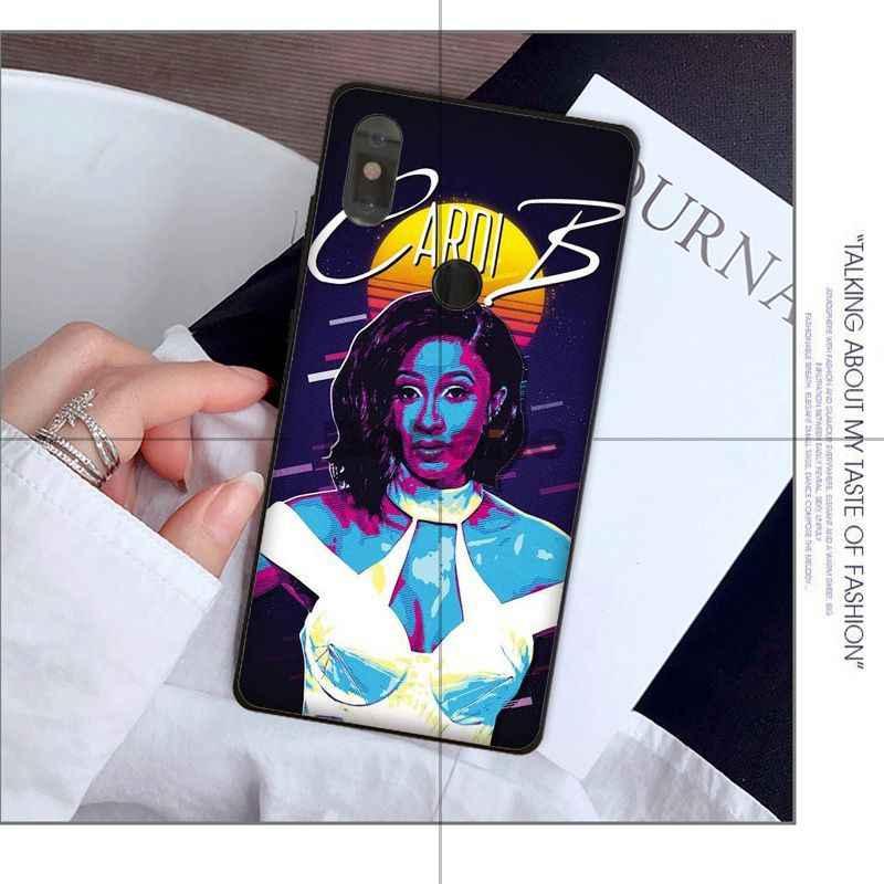 Babaite Ca Sĩ Nhạc Rap Người Mỹ Gốc Cardi B Coque Vỏ Ốp Lưng điện thoại Tiểu Mi Mi 8 8 SE 6 Note 3 mi X 2 2 S Note 3 Bao