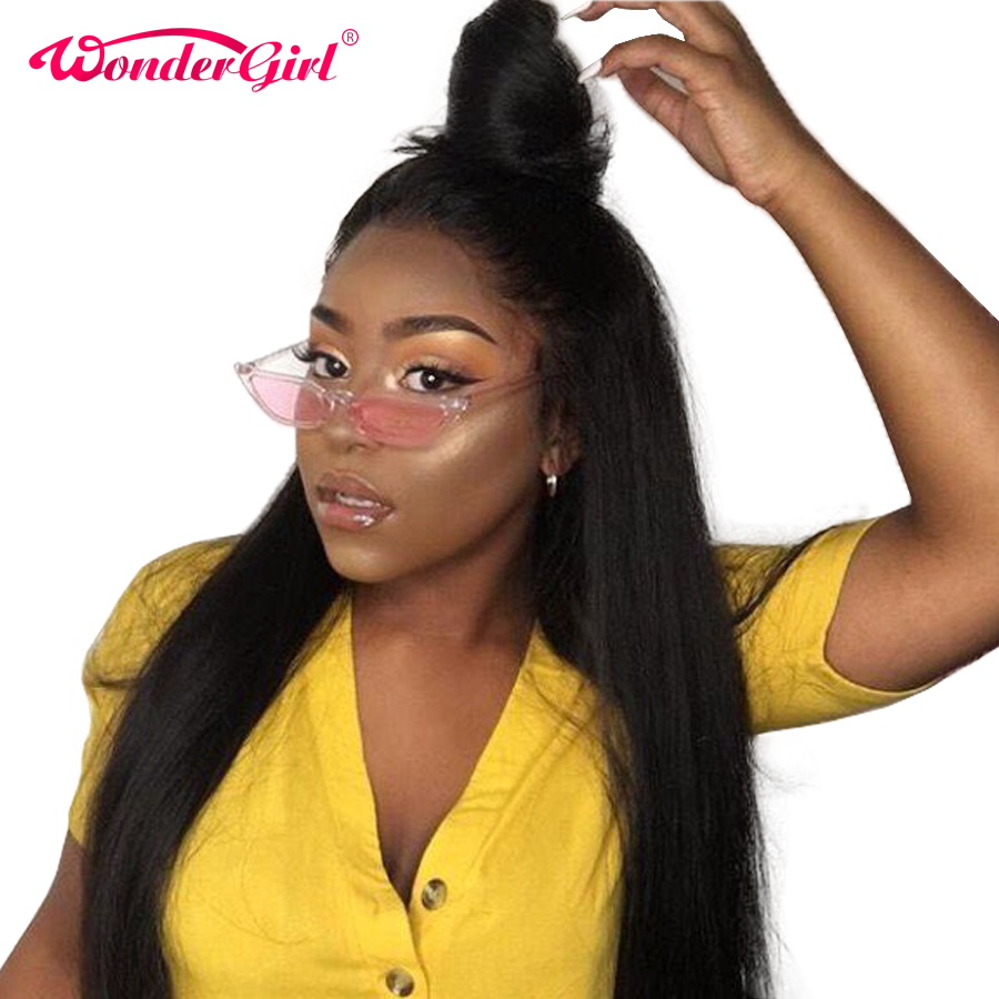 Remy Hair Wonder girl 360 Lace Frontal Wig Pre Plucked With Baby Hair Peruvian Straight Pre