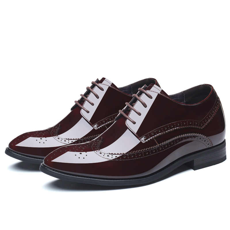 6fd1af51acd1cd ... Formal Mens Height Increase Elevator Shoes in Patent Leather Get Taller  7cm Invisibly ...