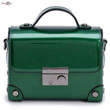 Moccen Box Form Tote Lackleder Umhängetasche Für Frauen 2017 Messenger Bags Damen Bao Bao Luxus Marke Satchel
