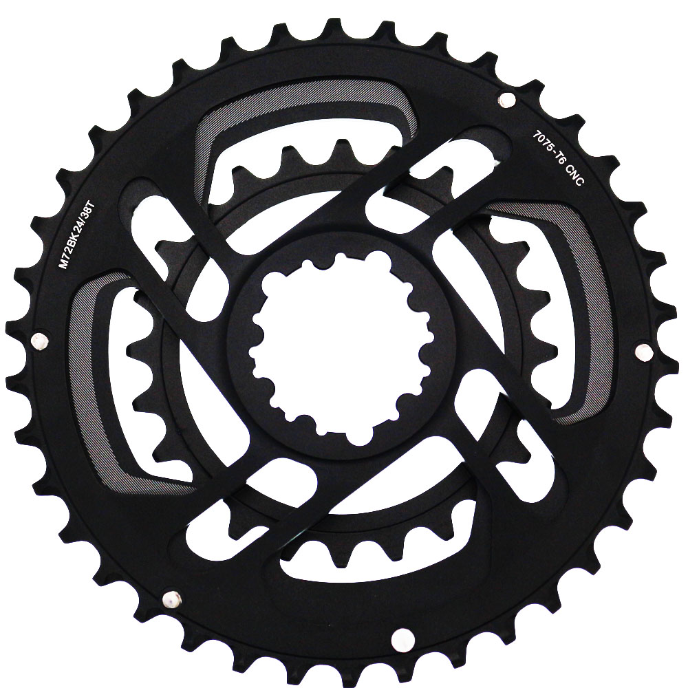 Mountain bike Road Bicycle Full CNC 24T 38T Gear 10s 11s Chainwheel GXP SRAM Crankset Crank Chainring Forged Double Chain Wheel-in Bicycle Crank & Chainwheel from Sports & Entertainment    3