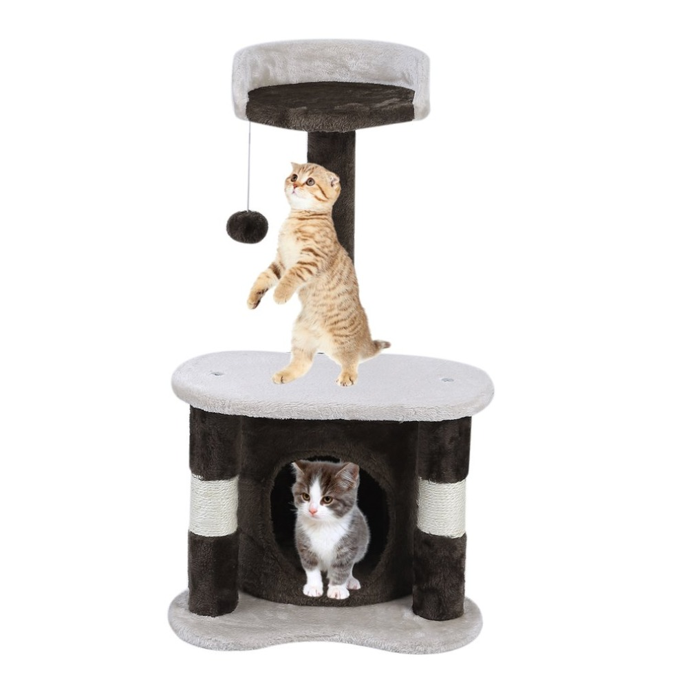 Cat Climbing Frame CatS Tree 65cm Height Speed Pets Scratching Posts Animals Toys House Bed Hanging Balls Furniture Great Gifts
