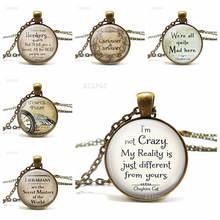 Я не сумасшедшее ожерелье с цитатой кулон бронзовая цепочка