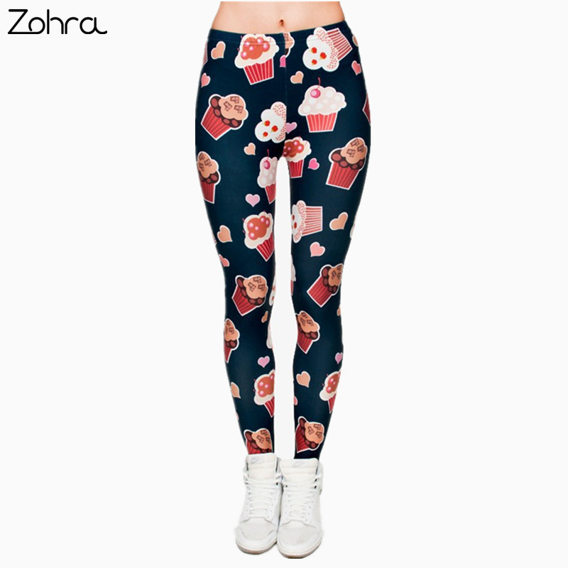 Zohra Muffins 3D Graphic Full Printing Women's Clothing teenage fitness Legging Sexy Punk Leggings Pants Workout