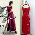 Resident Evil (BIOHAZARD) umbrella Ada Wong halloween feather outfit whole set cheongsam party lolita dress