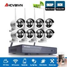 AHCVBIVN Wireless CCTV System 960P 8CH NVR Kit HD H.264 IP Camera Wifi Home Security Night Vision Video Surveillance Kit