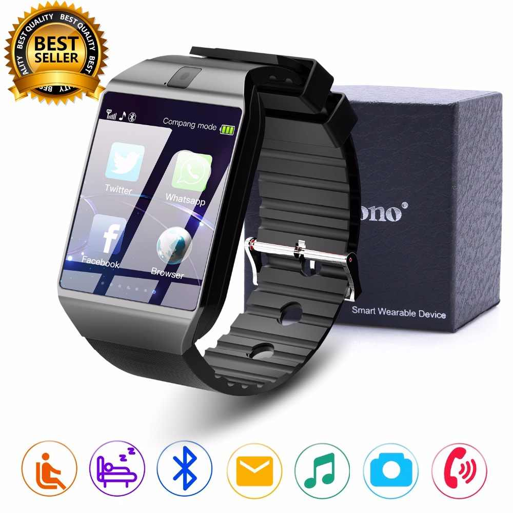 Cawono Bluetooth Smart Watch DZ09 Relojes Smartwatch Relogios TF SIM Kamera untuk Ios iPhone Samsung Huawei Xiaomi Android Ponsel