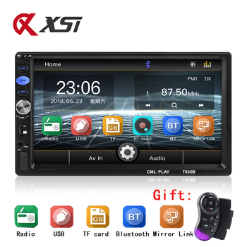 """Autoradio 2 Din Car Audio Player 7"""" LCD Touch Screen Display Support Bluetooth Hands-free Steering Wheel Multimidia MP5 Player"""