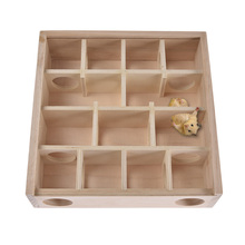 New Arrival Hamster Maze Log Toy Small Pets Natural Wood Maze Tunnel House Cage with Acryli Cover Chinchilla Gerbil Rat Chew Toy