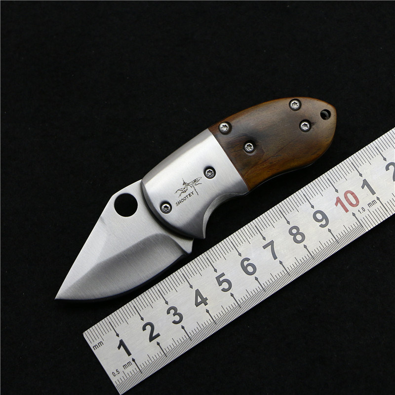 SHOOTEY 440C natural cocobolo stainless steel blade handle mini pocket folding font b knife b font