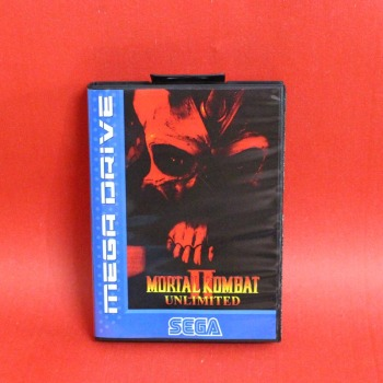 Mortal Kombat II Unlimited 16 bit MD card with Retail box for Sega MegaDrive Video Game console system