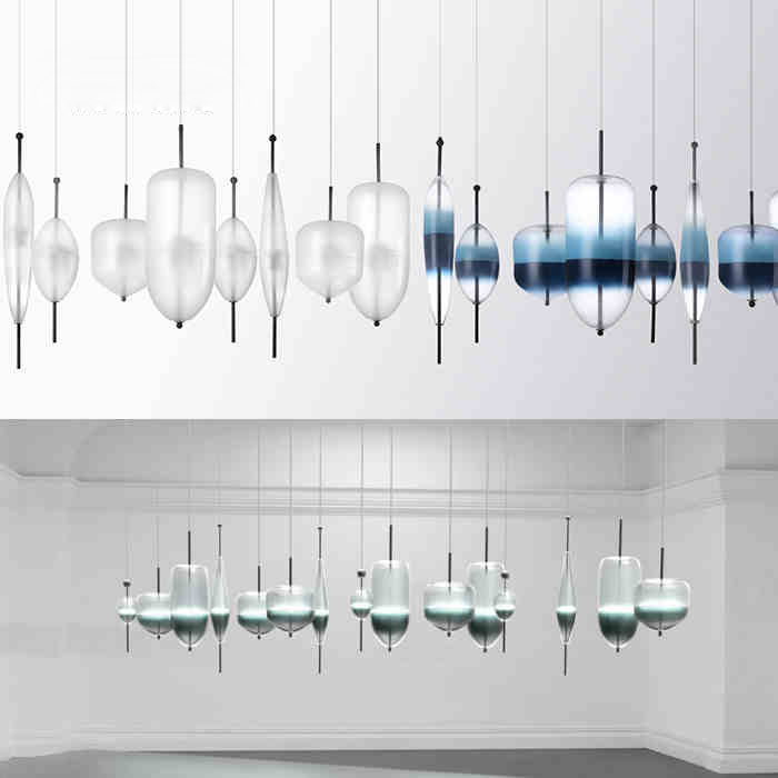Modern ideas personality pendant light creative pendant lamp glass ball hanging lamp nordic - Creative hanging lights ...