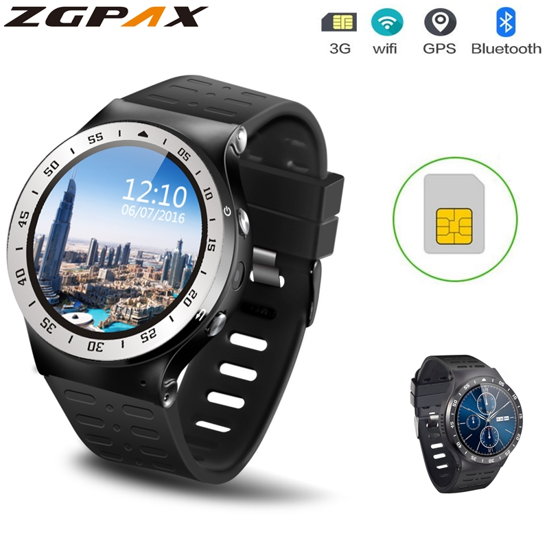 Original ZGPAX S99A PK KW99 3G Smartwatch Android 5.1 MTK6580 Quad Core 1.0GHz 8GB ROM Heart Rate WiFi Bluetooth 4.0 Wristwatch huadoo v3 ip68 waterproof quad core android 4 4 3g smartphone w 4 0 wifi nfc 8gb rom bluetooth