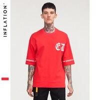 ENFLASYON Kırmızı T Shirt Marka Giyim Hip Hop Swag Kısa Kollu T-shirt erkek Boy En Tees Artı Boyutu 8186 S