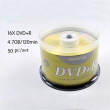 50/лот DVD диски пустой DVD+ R CD диск 4,7 GB 16X Bluray запись один раз хранение данных Пустые DVD диски записываемый носитель компактный