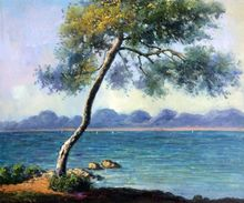 Cap d' Antibes by Claude Monet Handpainted
