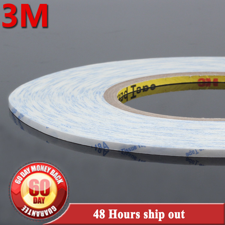 High quality 3M 9448 white double sided tape 3.5mm x 50m Cellphone Touch Screen LCD Repair fix Adhesive Tape free shipping 1x 76mm 50m 3m 9448 black two sided tape for cellphone phone lcd touch panel dispaly screen housing repair