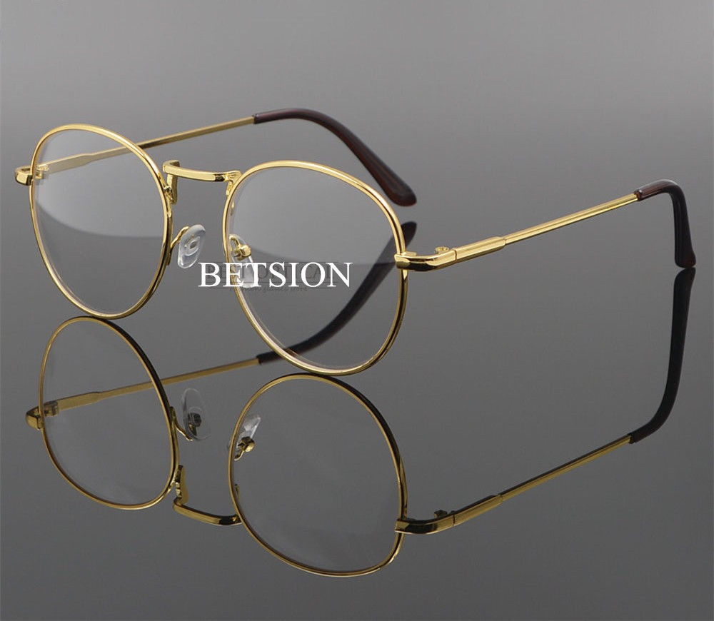 Moda Retro miopía distancia Metal oro gafas marco menos gafas-1,0-1 ...