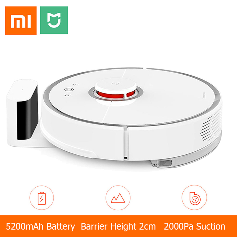 [International Version] Xiaomi Mijia Roborock Vacuum Cleaner 2 Automatic Area Cleaning 2000pa Suction 2 in 1 Sweeping Mopping original xiaomi mi roborock vacuum cleaner 2 mopping floor wifi home cleaning sweeping laser guidance powerful suction lds