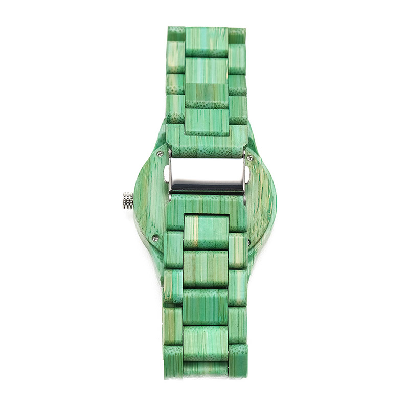 Quartz-Watch Wooden-Strap Wrist Gift Round Women Fashion Lady Colorful TH36 1pcs Dial