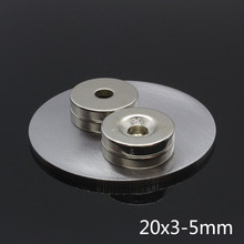 5pcs 20mm x 3mm Hole 5mm Strong Ring Round Magnets 20*3-5mm 20x3-5mm Rare Earth Neodymium 5 mm screw hole
