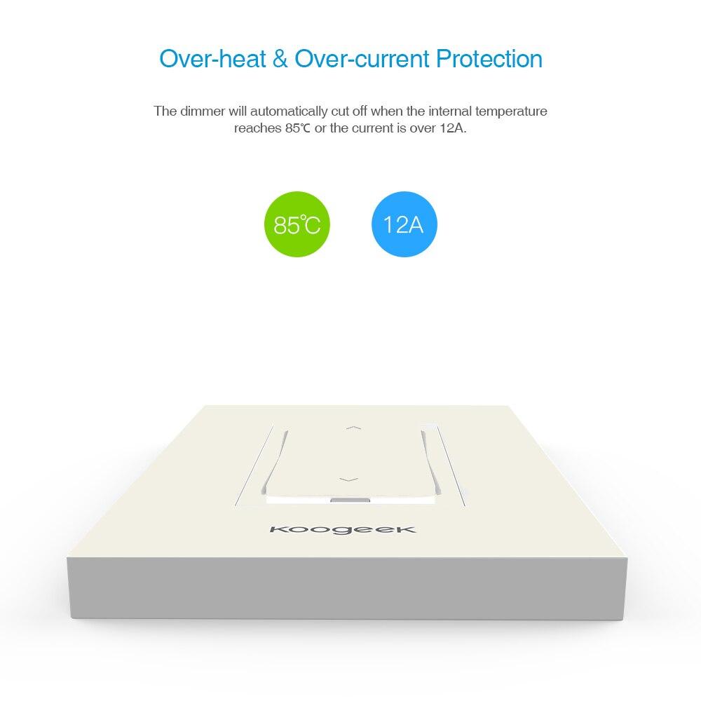 Koogeek Wifi Schalter Hause Smart Licht Dimmer für Apple HomeKit ...