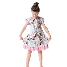 Девочки ночные рубашки детская ночная рубашка, детские пижамы детская одежда для сна домашняя одежда для девочек, мягкая ткань, 3D принт, платье для детей от 2 до 10 лет