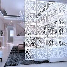 12 قطعة 29x29 سم معلقة شاشات أجزاء غرفة المعيشة من لوحات التقسيم جدار الفن Diy بها بنفسك الديكور الأبيض الخشب البلاستيك الغزل