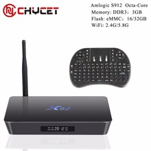 Chycet Original  Fully Loaded 3GB 16GB 3GB/32GB X92 Amlogic S912 Android 6.0 TV Box Octa Core Wifi 4K X92 Smart Set Top Box