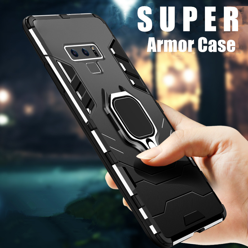 For Samsung Note 9 Case Hybrid Soft Silicone Armor Hard Cover For Samsung Galaxy Note9 S9 S10 Plus Case Coque With Magnetic Ring