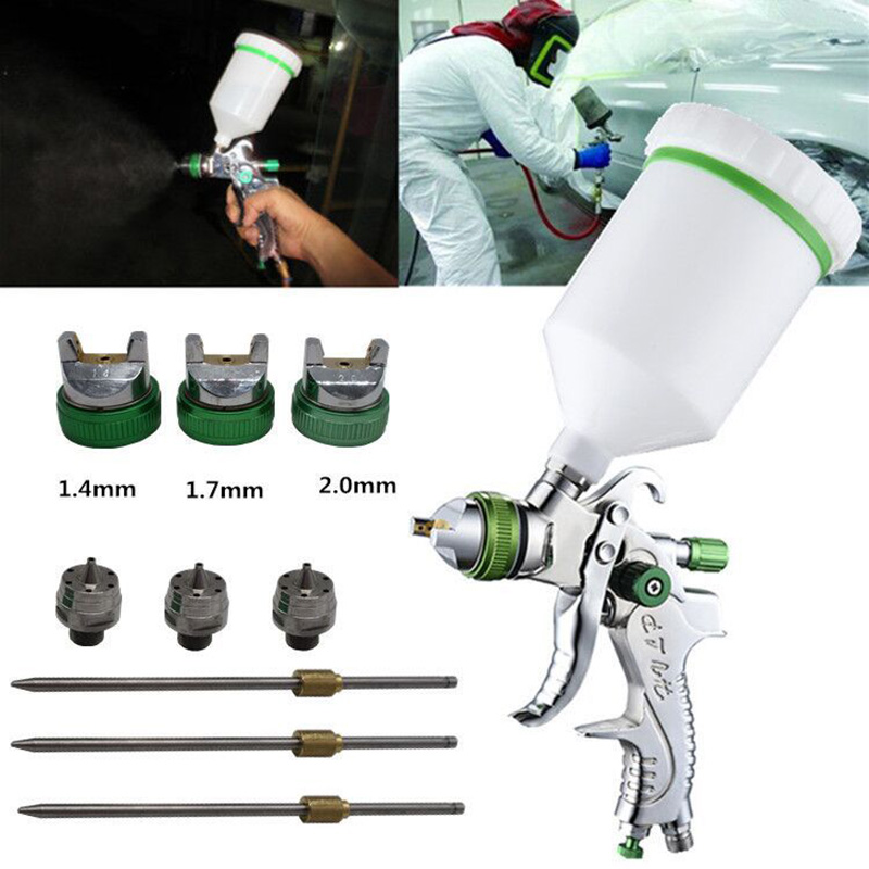 Newest 1.4/1.7/2mm Air Spray Tool W-101 Gravity Feed Paint Kit Tool HVLPNewest 1.4/1.7/2mm Air Spray Tool W-101 Gravity Feed Paint Kit Tool HVLP