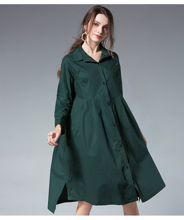 Primavera Vestido Asimétrica 4xl 2018 rojo Ocasional Moda Sueltas Más Flare Negro Damas verde De Casuales Vestidos Cuello Larga Tamaño Camisa YwEq1wS