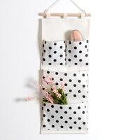 Baumwolle Leinen Wandbehang Organisatorbeutel Multifunktions Halter Hängenden Taschen Taschen Make-Up Rack Schmuck Aufbewahrungsbox Tasche