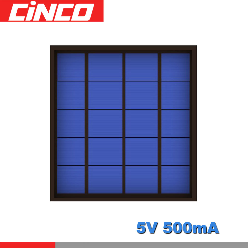 5V <font><b>500mA</b></font> 2.5Watt 2.5W Poly Panel Solar Standard Epoxy monocrystalline Silicon DIY Battery Power Charge Module Solar Cell toy image