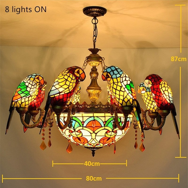 Fumat stained glass pendant lamp luxury crystal art glass birds fumat stained glass pendant lamp luxury crystal art glass birds pendant lights living room lamps parrot retro pendant light in pendant lights from lights mozeypictures Images