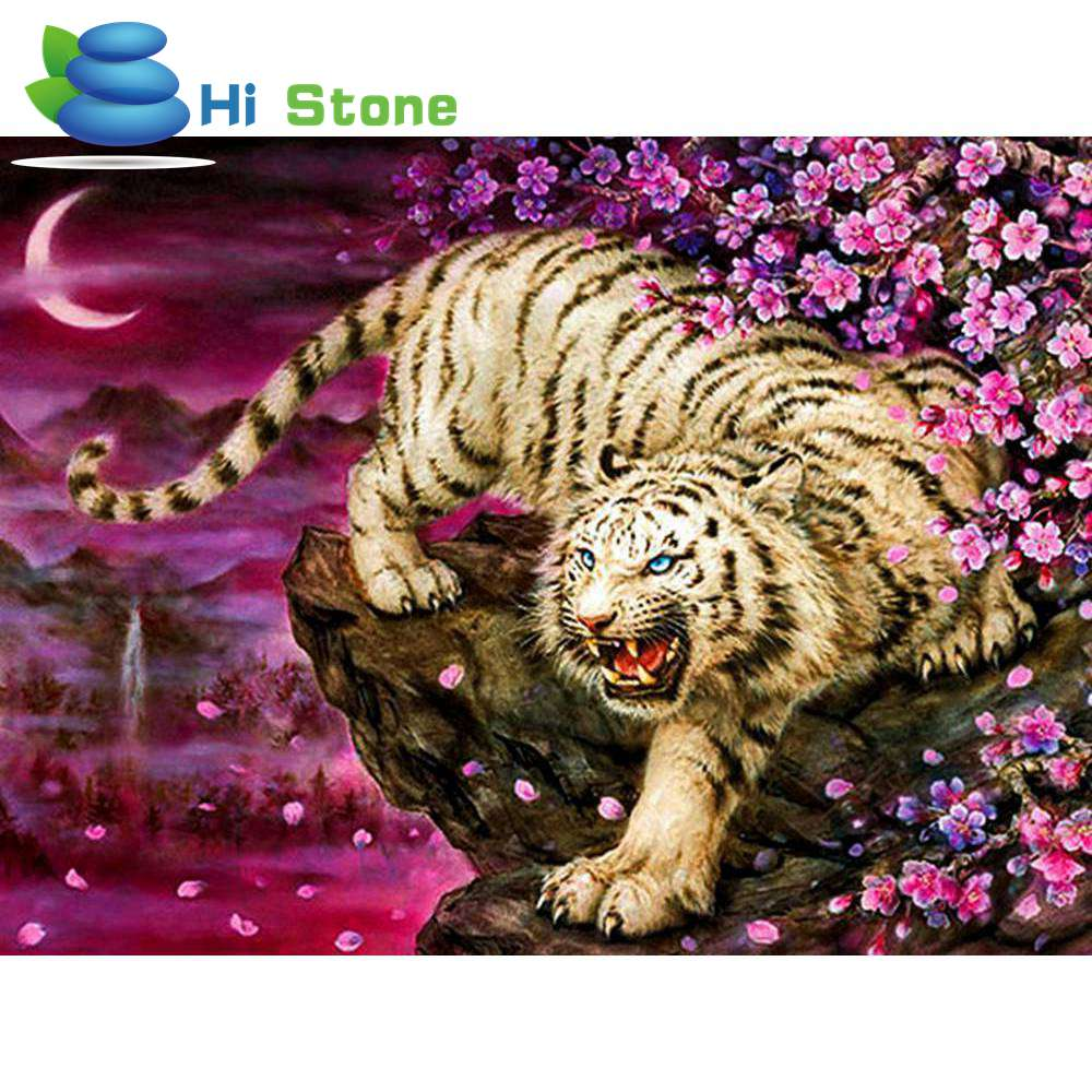 DIY Diamond embroidery Cross Stitch full square 5d Diamond painting Snow and Tiger Mosai ...