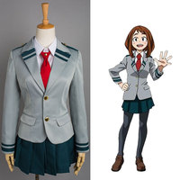 Boku no Hero Academia Cosplay Tsuyu Yaoyorozu Momo School Uniform My Hero Academia Ochaco Uraraka Midoriya Izuku Cosplay Costume
