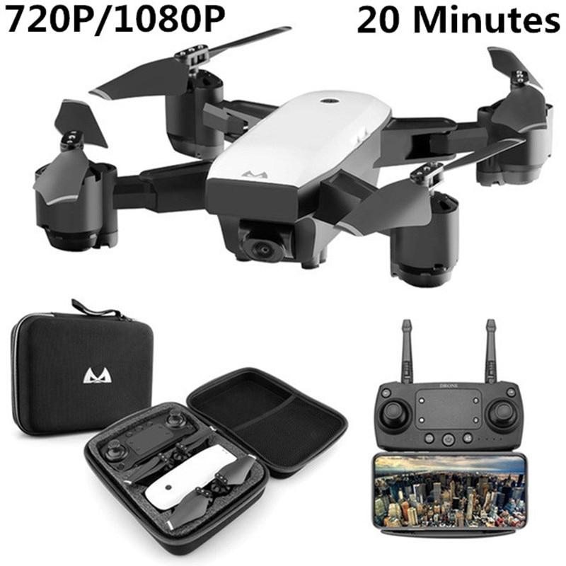 Offre Spéciale Drone Avec HD 1080 p Wifi Caméra Quadrocopter Planant FPV Quadricoptères 5MP Pliant RC Hélicoptère sac De Rangement jouet pour garçon