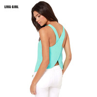 2016 Spring Summer New Tank Tops Women Sleeveless Round Neck Loose T Shirt Ladies Vest Singlets