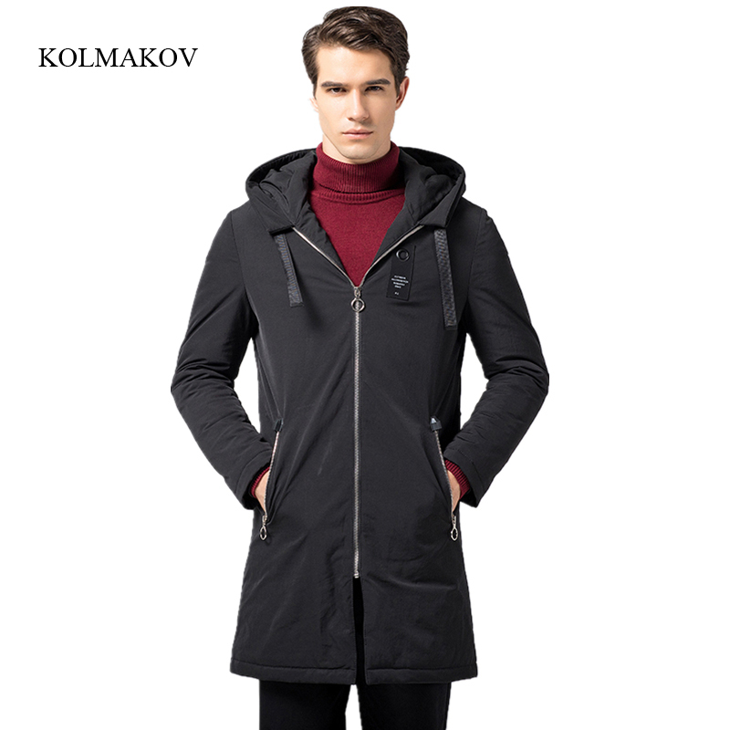 2017 new arrival style men boutique   down     coats   fashion casual slim hooded   down     coat   men's solid zippers trench   coat   size M-3XL
