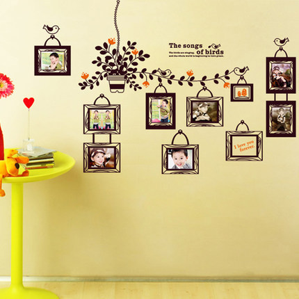 Photo Tree Wall Sticker Vintage Flower Stickers Wallstickers for Kids - Home Decor - Photo 1