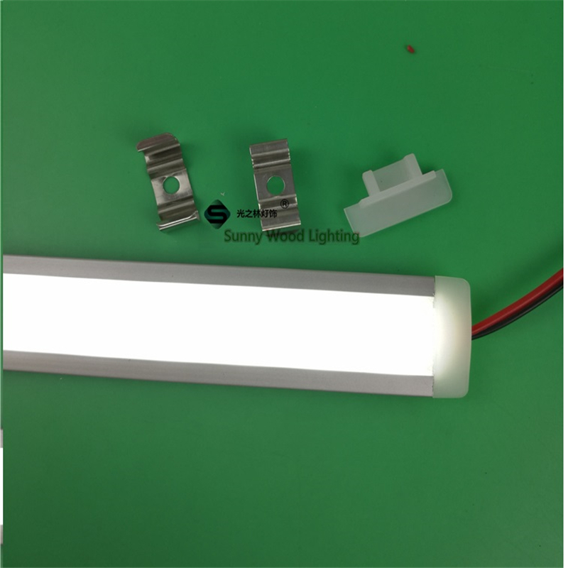 2pcs/lot 12V 50cm Embedded Led Bar Light  ,built In Rigid Strip ,5630 7W Led  Linear Strip For Cove ,outline ,furniture Profile