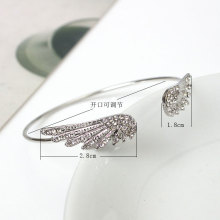 Korean version of fashion jewelry with crystal angel wings bracelet personality alloy open flash wholesale